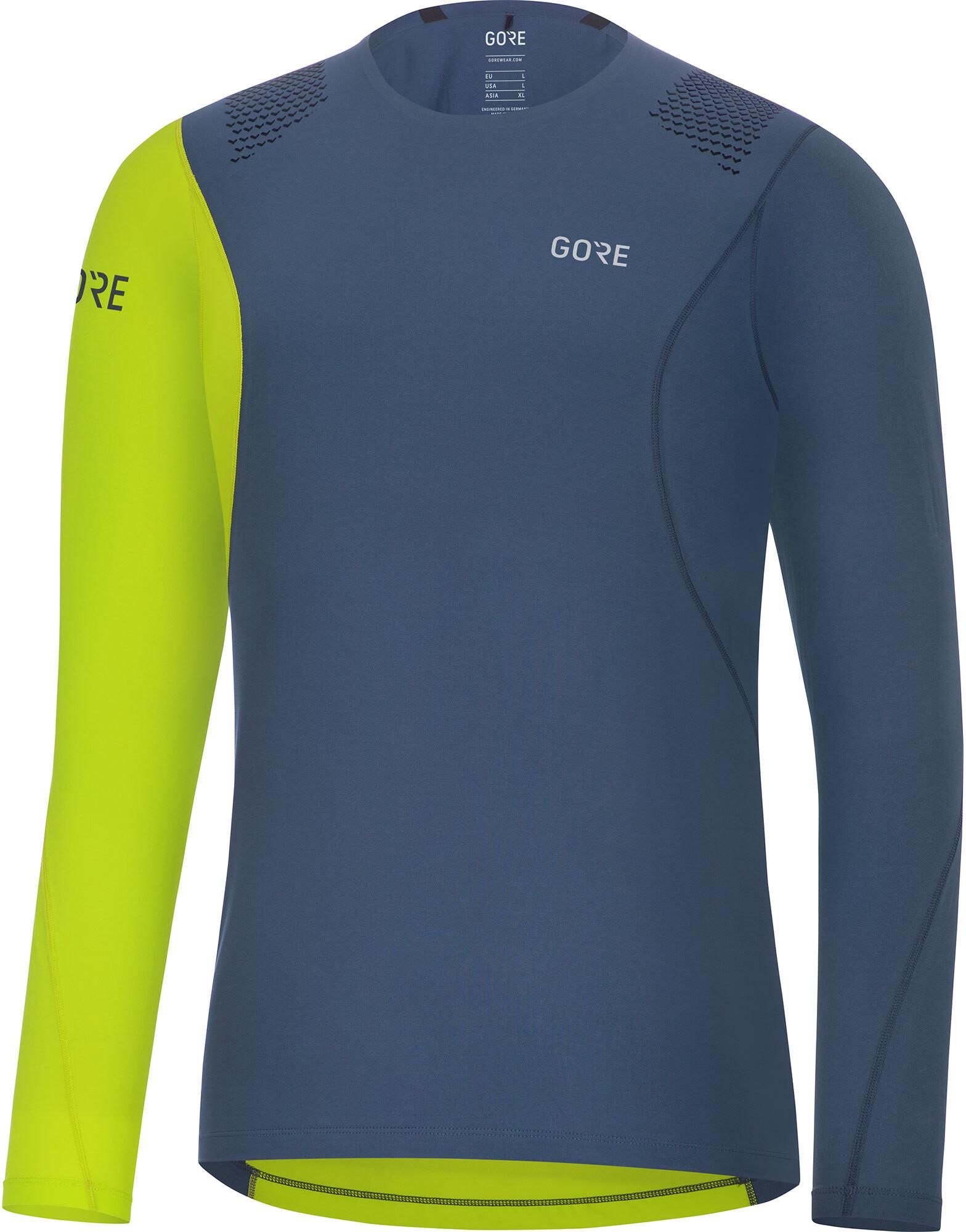 GORE WEAR R7 Maglietta corsa maniche lunghe Uomo verde blu su Addnature 318548932bce